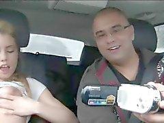 18yo princess fingering her hole in car