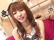 Strong pussy play for young and needy Kotone Aisaki