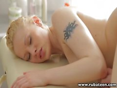 RubATeen Massaging ang fucking a smooth skin Russian teen