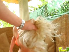 Tamed Teens Teen bimbo gets tamed by 3 big cocks
