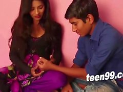 Teen indian girl influencing an innocent boy