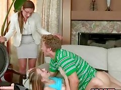Ava Hardy and MILF Samantha Ryan nailed