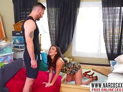 Brunette Step Mother Jennifer White Swallowing Fat Cock