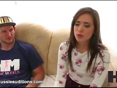 Hussie Auditions - Tiny Big Butt Gia Paige in Her First Real Audition