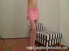 Daddy loves to violate young daughter in her ass