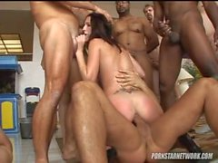 19 Man Gangbang for Layla and Hailey - Cover My Face