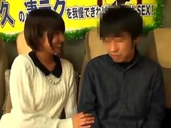 Japanese teen handjob in bus full of people