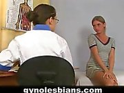 Lesbian doctor and sexy teen patient