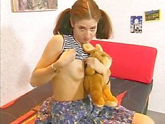Young Chick Sucks and Plays With Her Puss
