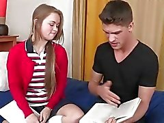 Study time is hot and sexy for a couple of students