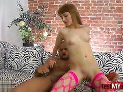 Redhead teen anal and facial cum