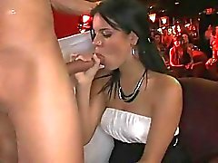 hot young burnette sucks down every