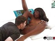 Ebony teen with an amazing body Ana Foxxx loves a white dick