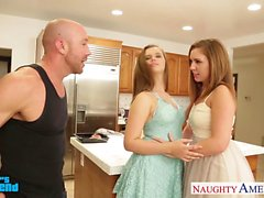 Hot girls Jillian Janson and Maddy OReilly sharing cock