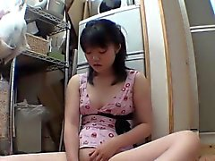 Asian teen enjoys solo