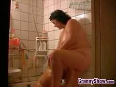 Granny And A Girl In The Shower