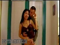 Asian Fiesty Chinese Teen Rocked