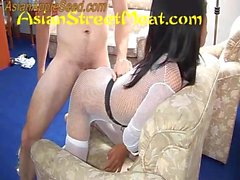 White Body Stocking Seriously Splattered