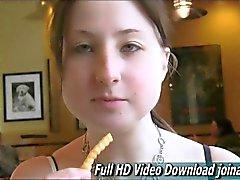 Busty teen Veronika tempts with her plump bosom