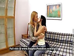 Bethany and Irene from sapphic erotica lesbo girls moaning