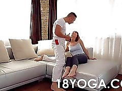 Yoga Teen Tina Hot Choked Slapped