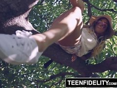 TEENFIDELITY Pamela Morrison Takes a Creampie In Her Hairy Pussy