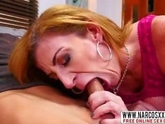 Redhead Step Mother Sara Jay In Stockings Gets Creampie After Shower