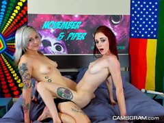 Excited Tattooed Camgirl Amazing Cam Show