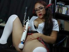 Naughty School Girl Tries Out Her New Toy
