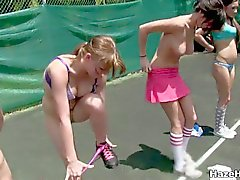 Tennis court lesbian sorority hazing