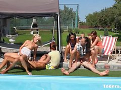 Poolside party sex from teenrs