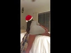 Cute Black teen twerking with no panties