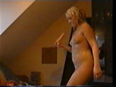 Dirty Girl body is cum glazed .Part 2.