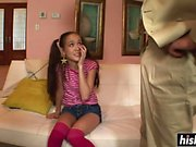 Beautiful teen in knee socks gets pounded