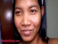 15 week pregnant thai teen asian super horny gives deepthroat and throatpie
