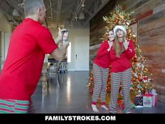 FamilyStrokes - Christmas Morning Sex With My Stepdad