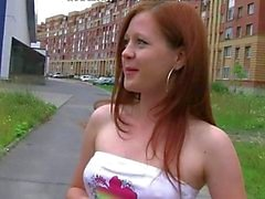 Teen Redhead Got Anal Fucked Outside In A Car