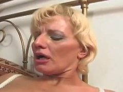 sexy mature granny sucking young stud and fucking him