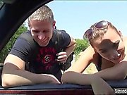 Hanna and lover make love for free ride