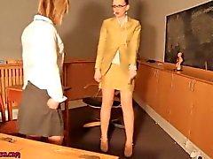 Teen schoolgirl punish by her MAture teacher and lick her nylon shoe Class5