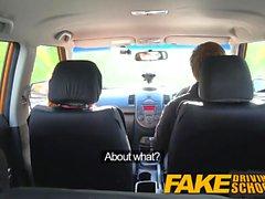 Fake Driving School Cute redhead Ella Hughes