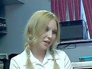 Black Cock Fucks Schoolgirl Machella's Tender Asshole