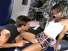 Naughty teen asian sensation nasty drilling in gym