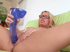 Awesome girl craves for a long dildo