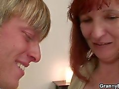 He lures her into cock sucking and riding