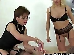MILFs love to dominate a tied up dude
