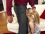 Angry Dad Fucks the Small Teen Babysitter!