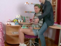 Beautiful Russian Teen With Perfect Tits Gets Analized