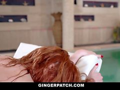 GingerPatch - Hot Ginger Gets Pussy Filled Poolside