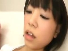 Asian teen with nice tits gets a load on them and groped ag